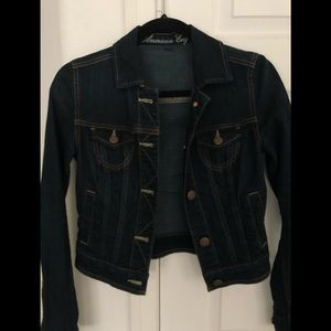 American eagle classic stretch denim jacket XS